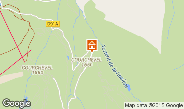Map Courchevel Apartment 1096