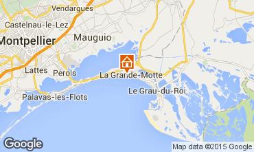Map La Grande Motte Apartment 6053