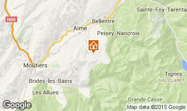 Map La Plagne Apartment 2136