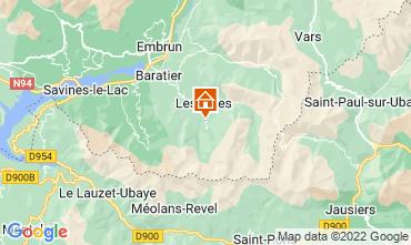 Map Les Orres Chalet 65856