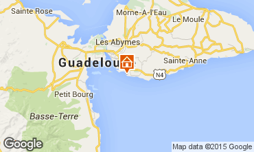 Map Gosier (Guadeloupe) One-room apartment 8007