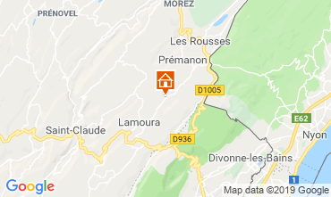 Map Les Rousses Chalet 89314
