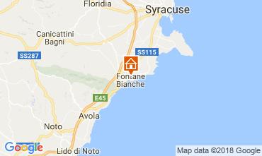 Map Fontane Bianche Villa 115758