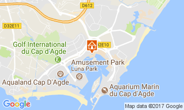 Map Cap d'Agde Apartment 112300