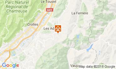 Map Les Sept Laux One-room apartment 113096