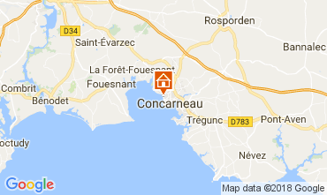 Map Concarneau One-room apartment 34964