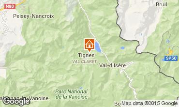 Map Tignes Apartment 80720