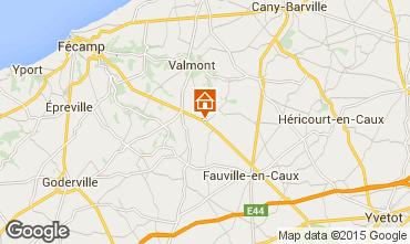 Map Etretat Vacation rental 88222