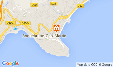Map Roquebrune Cap Martin Apartment 104967