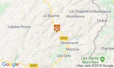 Map Saint Jean d'Aulps- La Grande Terche Apartment 57389