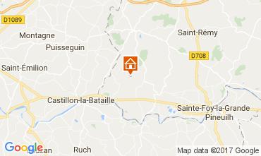 Map Bergerac Vacation rental 111984