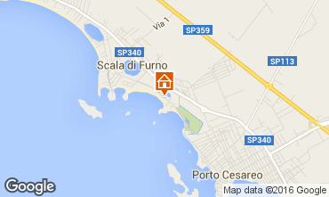 Map Porto Cesareo Apartment 97328
