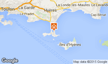 Map Hyères Apartment 79826