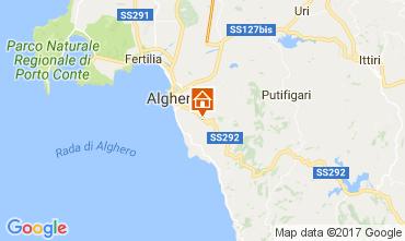 Map Alghero Villa 65699