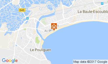 Map La Baule Apartment 107669