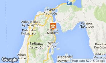 Map Lefkada Apartment 43745