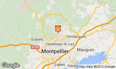 Map Montpellier Villa 9206