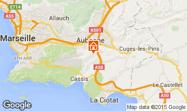 Map Cassis One-room apartment 76709
