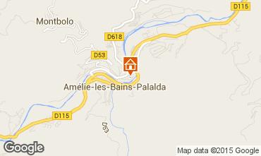 Map Amélie-Les-Bains One-room apartment 98778