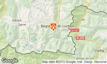 Map Luchon Superbagneres Apartment 67490