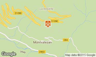 Map La Rosière 1850 Apartment 82857