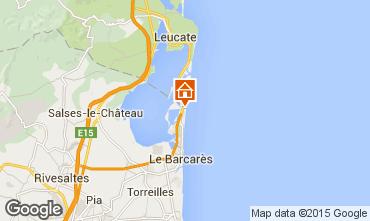 Map Le Barcares Villa 98604