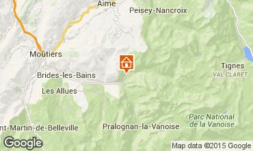 Map Champagny en Vanoise Chalet 56566