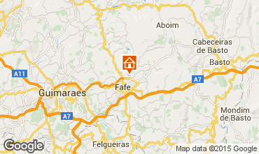 Map Guimarães Vacation rental 50906