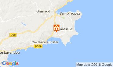 Map Saint Tropez Villa 115509