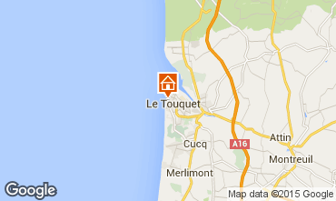 Map Le Touquet One-room apartment 38630