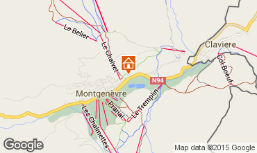 Map Montgenevre Apartment 45145