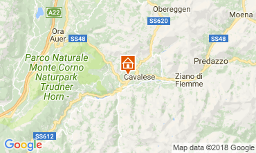 Map Val di Fiemme Apartment 25965