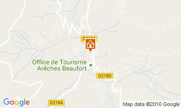 Map Areches Beaufort Chalet 107220
