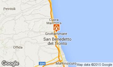 Map Grottammare Apartment 77931