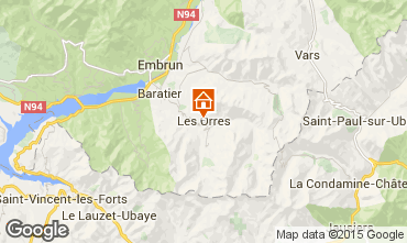 Map Les Orres Apartment 26650