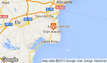 Map Alicante Villa 77982