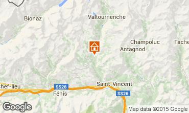 Map Valtournenche Apartment 77714
