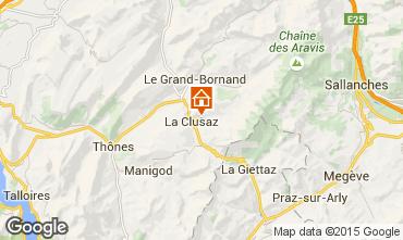 Map La Clusaz Apartment 80429