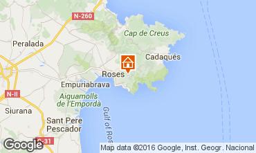 Map Rosas Apartment 77790