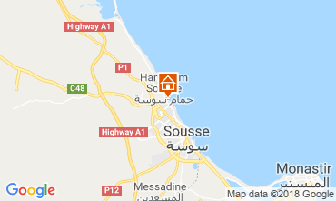 Map Sousse Apartment 117128