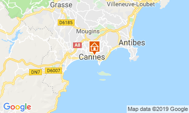 Map Cannes Apartment 119042