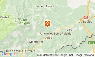 Map Amélie-Les-Bains One-room apartment 92940