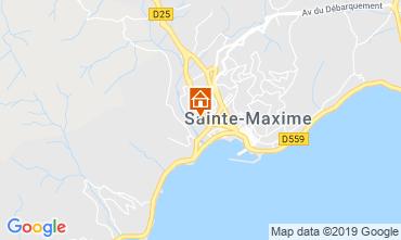 Map Sainte Maxime One-room apartment 74150