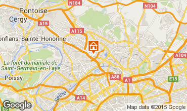 Map PARIS Vacation rental 91477