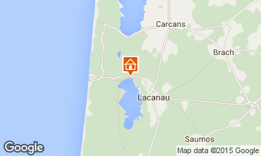 Map Lacanau One-room apartment 93016