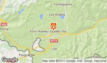 Map Bolquère Pyrenées 2000 Apartment 3986