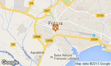 Map Fréjus Apartment 90107