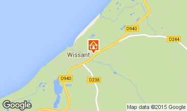 Map Wissant Vacation rental 32131