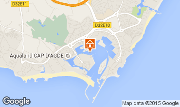 Map Cap d'Agde Apartment 26201