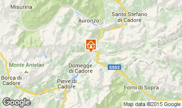 Map Auronzo di Cadore Apartment 85967